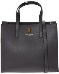 TK Maxx Leather Richmond Handbag - Grey