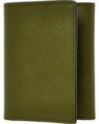 TK Maxx Moss Leather Trifold Wallet - Green