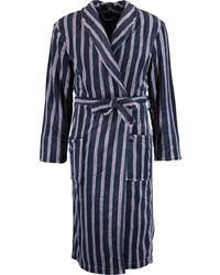TK Maxx Striped Plush Robe - Blue