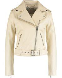 TK Maxx Leather Jacket - Natural