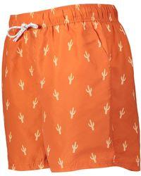 TK Maxx Cactus Printed Swim Shorts - Orange