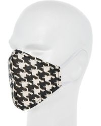 TK Maxx Monochrome Houndstooth Face Covering - White