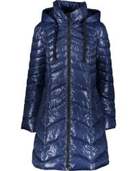 TK Maxx Galaxy Chevron Padded Coat - Blue
