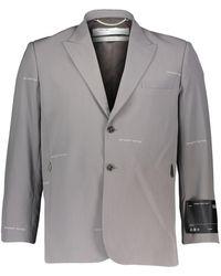 TK Maxx Grey Logo Patterned Tailored Blazer
