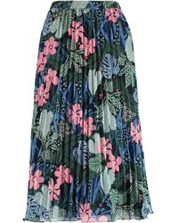 TK Maxx Ed Botanical Pleated Skirt - Multicolour