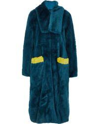 TK Maxx Faux Fur Coat - Green