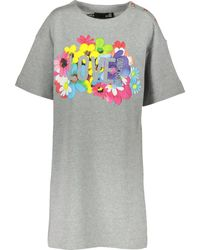 TK Maxx Marl Floral Jumper Dress - Gray