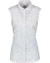 TK Maxx Bird Print Sleeveless Blouse - White
