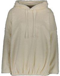TK Maxx Cream Sherpa Fleece Pullover Hoodie - Natural