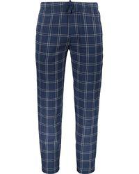 TK Maxx Windowpane Check Pyjama Bottoms - Blue