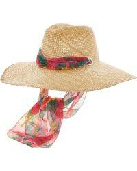 TK Maxx Natural Straw Fedora Hat - Multicolour