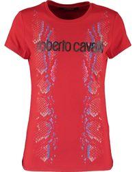 TK Maxx Logo Reptile Effect T Shirt - Red