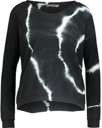 TK Maxx Tie Dye Raw Cut Sweatshirt - Black