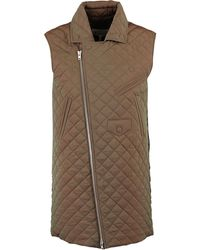 TK Maxx Iridescent Quilted Sleeveless Coat - Natural