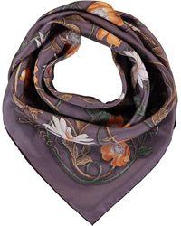 TK Maxx Silk Floral Scarf - Purple