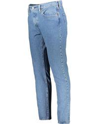 TK Maxx Washed Slim Taper Jeans - Blue