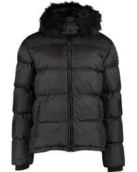 TK Maxx Faux Fur Hood Puffer Jacket - Black