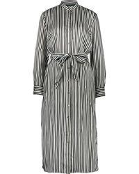 TK Maxx & White Striped Belted Dress - Black