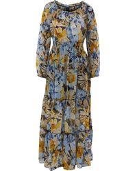 TK Maxx Ed Floral Maxi Dress - Blue