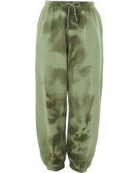 TK Maxx Tie Dye Washed Joggers - Green
