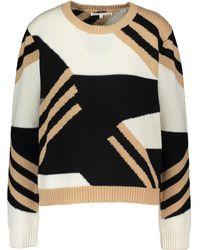 TK Maxx Ed Wool Blend Striped Jumper - Black