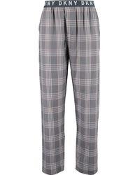 TK Maxx Grey & Check Pyjama Bottoms - Pink