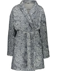 TK Maxx Reptile Print Robe - Grey