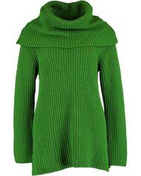 TK Maxx Chunky Knit Roll Neck Cardigan - Green