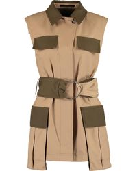 TK Maxx Beige & Notting Hill Sleeveless Utility Jacket - Green