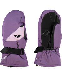 TK Maxx Leather Palm Ski Gloves - Purple