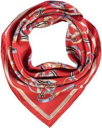 TK Maxx Silk Chain Scarf - Red