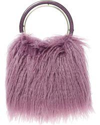 TK Maxx Faux Fur Grab Bag - Purple