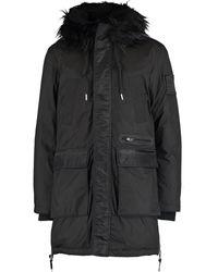 TK Maxx Longline Padded Coat - Black