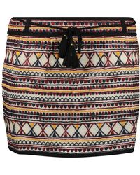TK Maxx Red & Embroidered Skirt - Blue