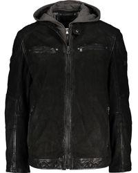 TK Maxx Leather Hooded Jacket - Black