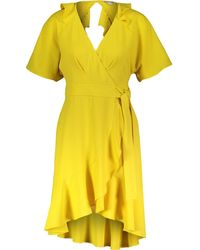 TK Maxx Abigail Frill Wrap Dress - Yellow