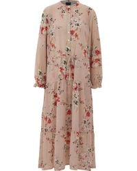 TK Maxx Nude Floral Long Sleeve Dress - Pink