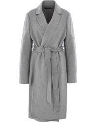 TK Maxx Wool Trench Coat - Grey