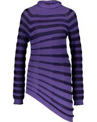 TK Maxx Striped Roll Neck Jumper - Purple