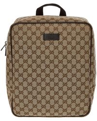 TK Maxx Logo Print Canvas Backpack - Brown