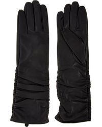 TK Maxx Dark Leather Longline Gloves - Blue