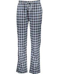 TK Maxx & Brown Check Print Pyjama Bottoms - Blue