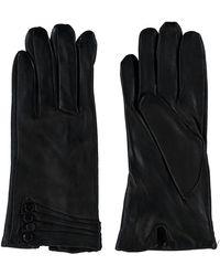 TK Maxx Fleece Lined Leather Gloves - Black