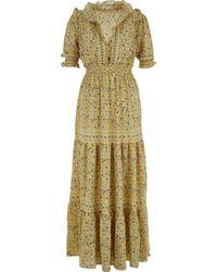 TK Maxx Floral Print Maxi Dress - Yellow