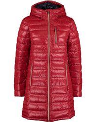 TK Maxx Padded Longline Coat - Red