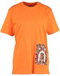 TK Maxx Camouflage Patch T Shirt - Orange