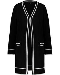 TK Maxx & White Striped Cardigan - Black