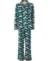 TK Maxx Penguin & Bear Pyjamas Set - Green