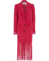 TK Maxx Long Line Woven Coat - Red