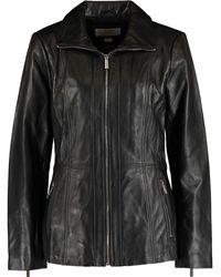 TK Maxx Leather Coat - Black